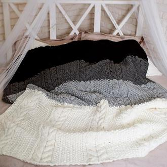 Вязаное одеяло-плед
