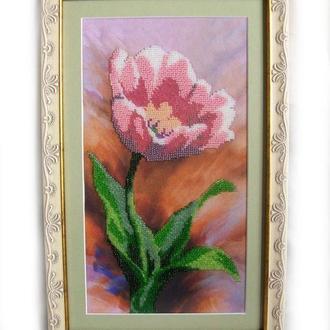 """Картина бисером """"Нежный тюльпан"""""""