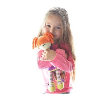 Вязаная большая кукла. Подарок девочке. Подарок новорожденному.