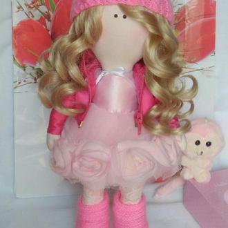 Текстильная кукла ручной работы. 40 см