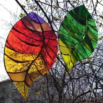Витраж ловец солнца Листья