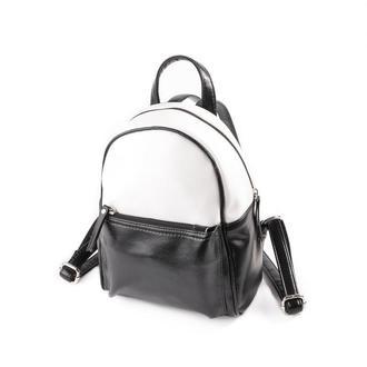 Женский маленький рюкзак Черно-белый