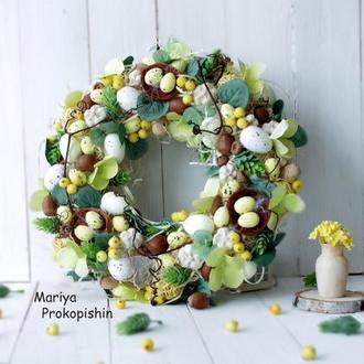 Пасхальний вінок  ′Весняні краски 2′