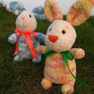 Зайчик -мальчик, мягкая игрушка, вязаный крючком, Подарок амигуруми