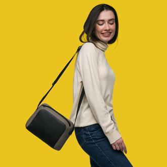 Кожаная сумка через плечо / кросбади