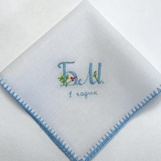 Вышитый платочек для крестника или крестницы