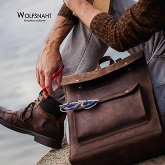 """Шкіряний рюкзак  """"Wanderer"""" коричневий"""