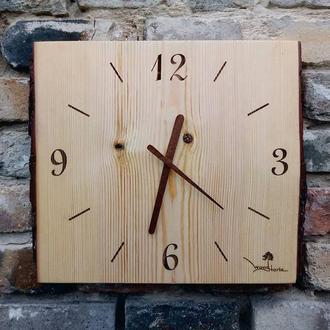 Часы из массива дерева Eco style