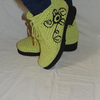 Вязаные ботиночки