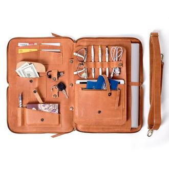 Кожаная сумка органайзер для ноутбука Spich