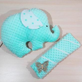Подушка-игрушка в форме слона, плюшевый слон, мятный слон-подушка