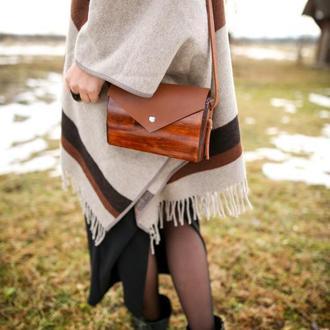 """Жіноча дерев'яна сумка """"Кора"""""""