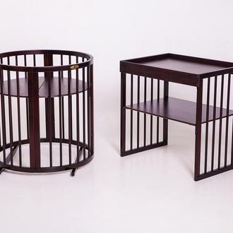 Овальная кроватка 9в1