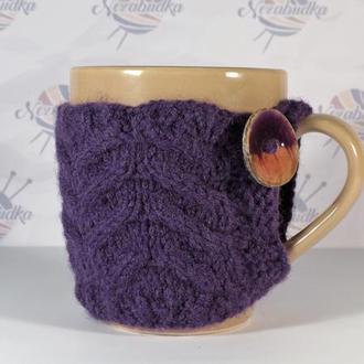 Чашечка с пуговкой ручной работы