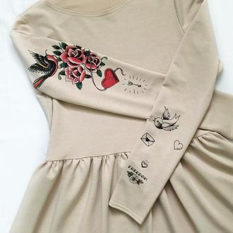 Платье с авторскими принтами!