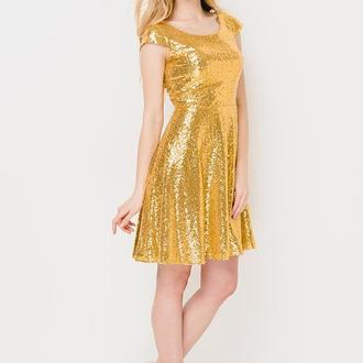 пайеточное платье Escena