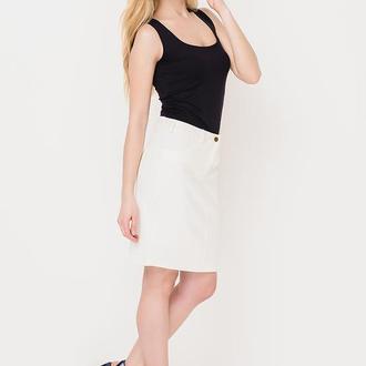 юбка из белого джинса