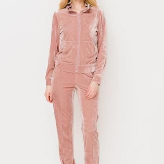 спортивный костюм из розового велюра Escena
