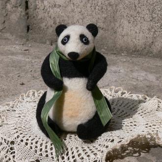 Панда валяная игрушка игрушки из шерсти