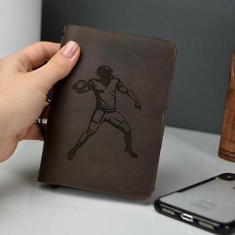 Подарочный блокнот, именной подарок, подарок для мужчины, кожаный блокнот, кожаный ежедневник
