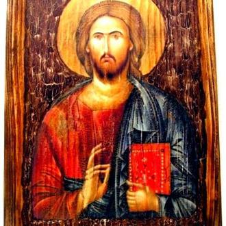 копія ікони Христа Пантократора з Синайського монастиря. Середина VI століття.