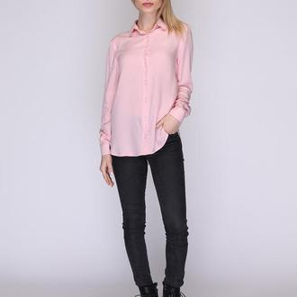 Рубашка пудрового цвета