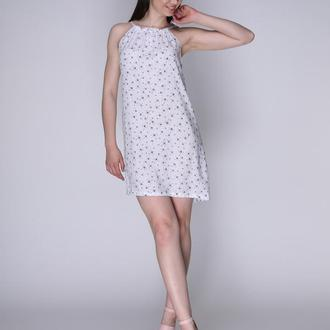 Платье белое со стрекозами