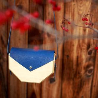 """Жіноча дерев'яна сумка """"Геометрія"""""""
