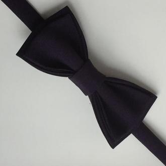 Галстук- бабочка фиолетовая (цвет сливы). метелик.