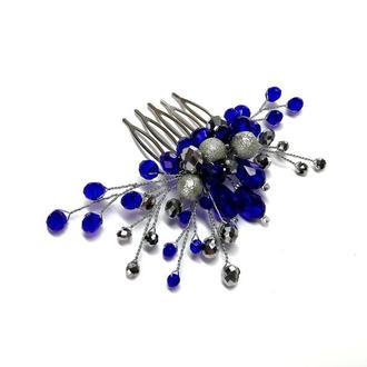 Гребешок в серебристо-синих тонах mini