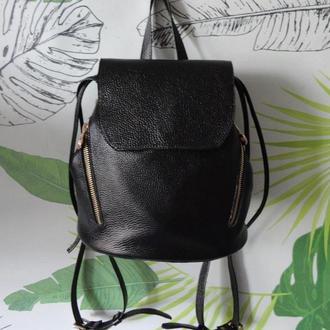 Компактный женский рюкзак из натуральной кожи