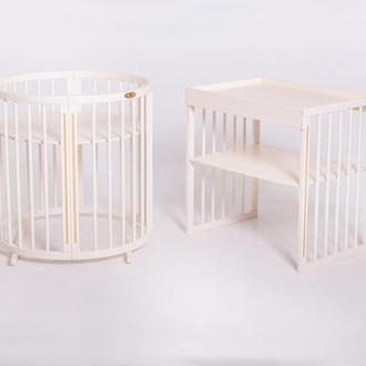 New Овальная кроватка 9в1 Royal Sleep Limited Слоновая Кость