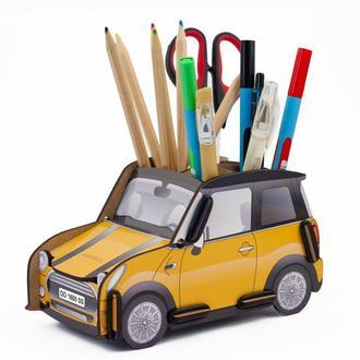 Органайзер для ручек и карандашей «Автомобиль Желтый»