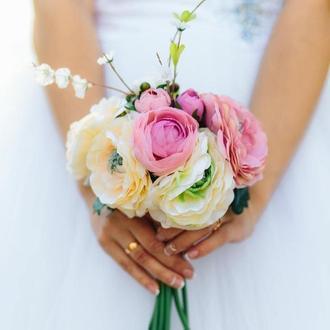 Букет для невесты Свадебный букет Букет для фотосессии Букет цветов для фотосессии  Бутоньерка