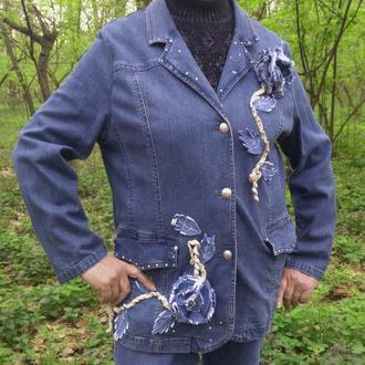 """Джинсовая куртка """"Весенняя гроза"""""""