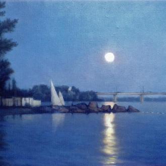 Восход луны на Днепре