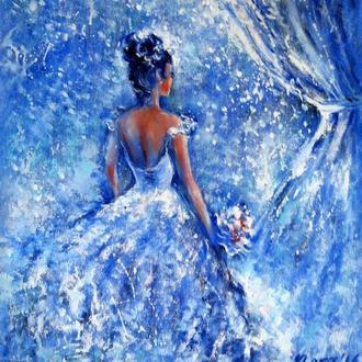 Картина маслом на холсте Невеста
