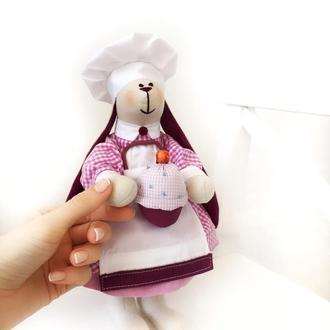 Кондитер фея сладостей кондитерская тильда зайка игрушка Повар подарок кафе
