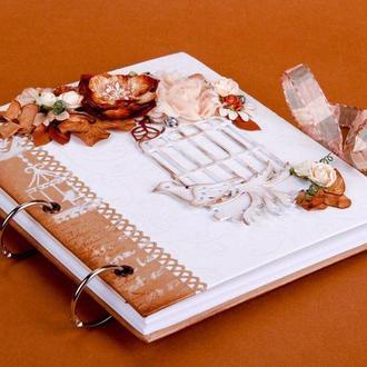 """Книга пожеланий """" Птица счастья"""". Гостевая книга. Свадебная книга. Артбук. Ежедневник. Скечтбук."""