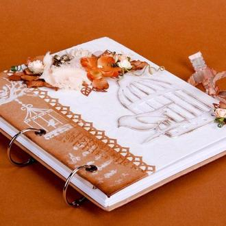 "Скетчбук ""Птичка"". Записная книга. Артбук. Книга пожеланий. Блокнот. Гостевая книга. Ежедневник."
