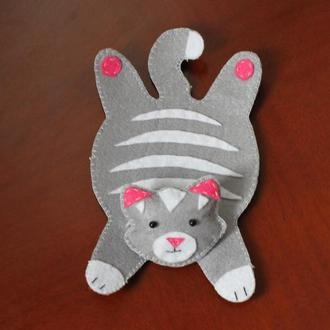 Підставка під горнятко Сірий кіт
