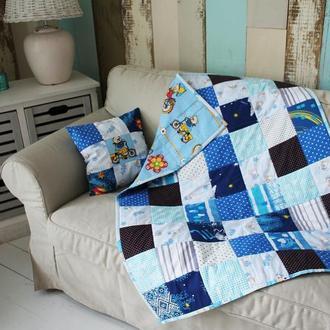 """Детское одеяло- покрывальце в кроватку """"Морские камешки"""""""