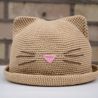 Детская вязаная шляпа
