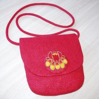 Сумка кросс-боди Красный цветок