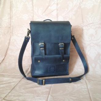 Мужская сумка мессенджер, Кожаная сумка через плечо