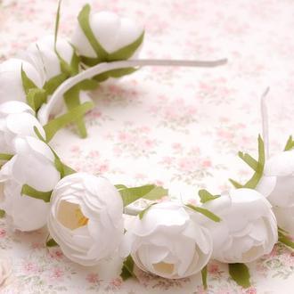 Обруч/ Венок с большими цветами