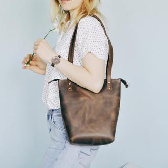 Кожаная сумка Ренни