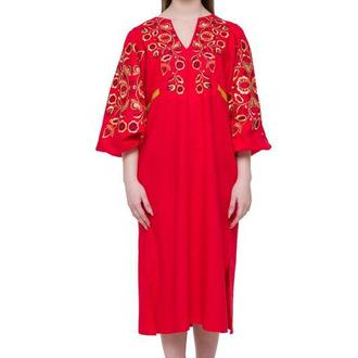 """Сукня вишита """"Знахідка"""" червона"""