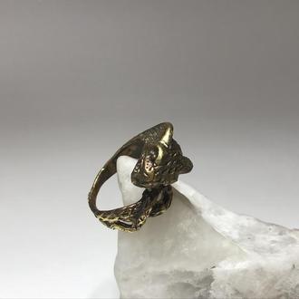 Кольцо бронза Змея