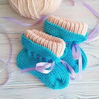 Шкарпетки-пінетки для малюка 2-3 місяці